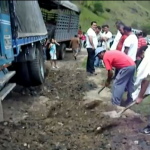 Truck Blocking the Road, Guatemala