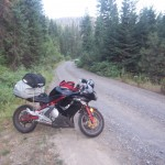 Sportbike on a Gravel Road